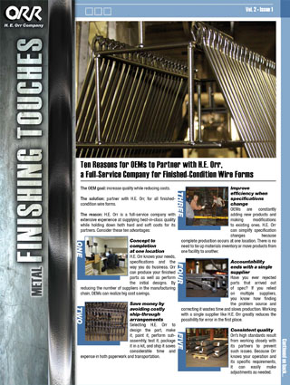 H.E. Orr Vol 2 Issue 1 Newsletter