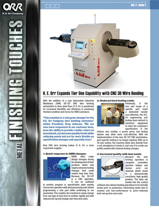 H.E. Orr Vol 2 Issue 2 Newsletter